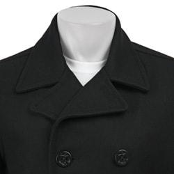 Dockers Men's Wool Melton Double Breasted Peacoat