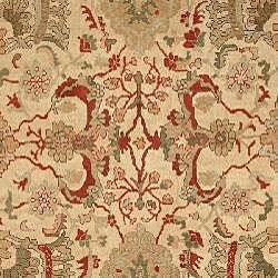 Farahan Hand-knotted Ivory Hand-spun Wool Rug (9' x 12') - Thumbnail 2