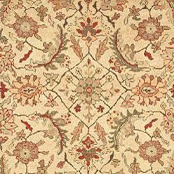 Oushkar Hand-knotted Wool Heirloom Ivory/ Blue Rug (9' x 12') - Thumbnail 2
