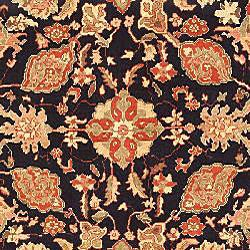 Oushak Legacy Hand-knotted Navy/ Rust Wool Rug (8' x 10') - Thumbnail 2
