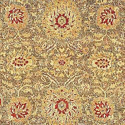 Oushak Legacy Hand-knotted Green/ Gold Wool Rug (6' x 9')