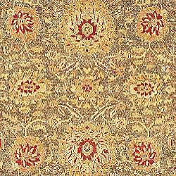 Oushak Legacy Hand-knotted Green/ Gold Wool Rug (9' x 12') - Thumbnail 2