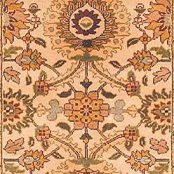 Oushak Legacy Hand-knotted Birj Ivory Wool Rug (6' x 9') - Thumbnail 2