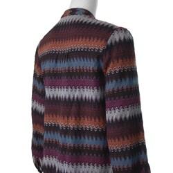 W.D.N.Y. Women's Multicolor Knit Jacket - Thumbnail 2