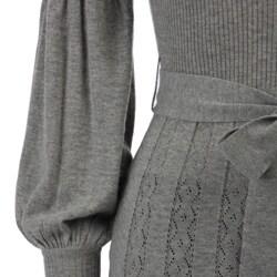 Yuka Women's Pointelle Turtleneck Sweater Dress