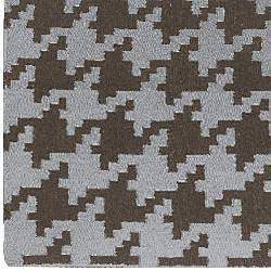 Hand-woven Houndstooth Wool Rug (3'6 x 5'6)