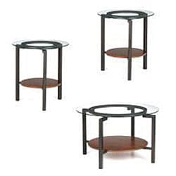 Glass top coffee end table 3 piece set free shipping today 12331691 One piece glass coffee table