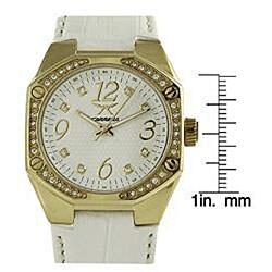 Carrera Women's Sprint White Leather Band Watch - Thumbnail 2