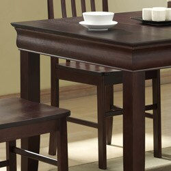 48-inch Espresso Wood Dining Table - Thumbnail 2