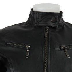 Ashley Women's Faux Leather Zip-up Jacket - Thumbnail 2