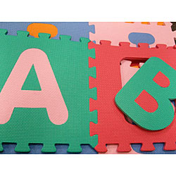 Kids' 36-square-foot Alphabet and Number Floor Puzzle Mat