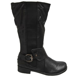 Bamboo by Journee Women's Side Accent Buckle Boots - Thumbnail 2
