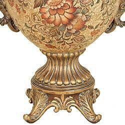 Majestic Collection Floral Design Porcelain Vase - Thumbnail 2