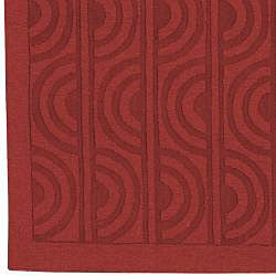 Handcrafted Red Wool Marabela Rug (8' x 11') - Thumbnail 2