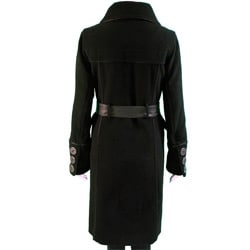 Laura Black Women's Cashmere Blend Full-length Coat