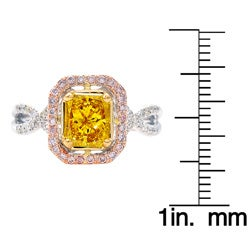 14k Gold 1 1/4ct TDW Yellow Diamond Ring (G-H, SI1-SI2) (Size 7) - Thumbnail 2