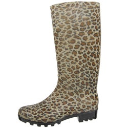 Adi Designs Women's Animal Print Rain Boots - Free Shipping On ...