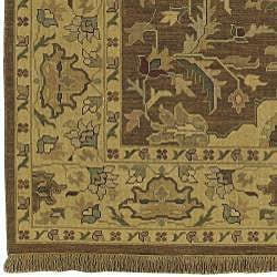 Hand-knotted Sangli New Zealand Wool Rug (6' x 9') - Thumbnail 2
