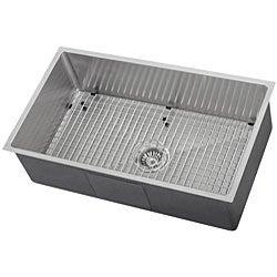 Ticor Stainless Steel 16-gauge Square Undermount Kitchen Sink