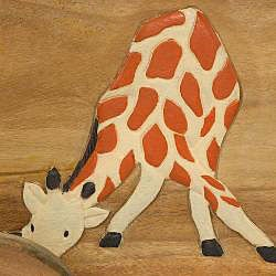 Handmade Painted Giraffe Kid's Storage/ Toy Box (Thailand)