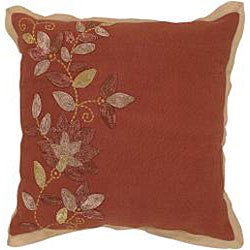 Rust/ Brown Throw Blanket with 2 Decorative Pillows - Thumbnail 2