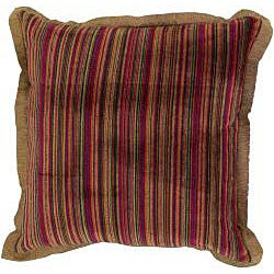 Rust/ Brown Throw Blanket and Decorative Pillow Set - Thumbnail 2