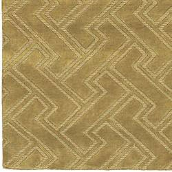 Hand-knotted Livno Basketweave Pattern Wool Rug (5' x 8')