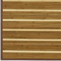 Hand-woven Brown Natural Fiber Rayon from Bamboo Rug (5' x 8') - Thumbnail 2