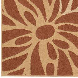Meticulously Woven Beige Contemporary Manchester Floral Set of 2 Rugs (2' x 3') - Thumbnail 2