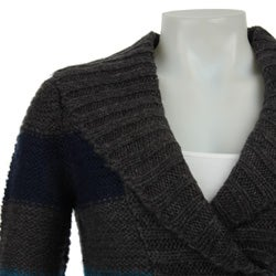 La Classe Couture Women's Marled V-neck Sweater - Thumbnail 2