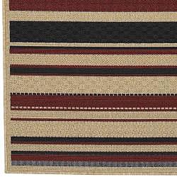 Cafe Beige Stripe Rug (3'6 x 5'6) - Thumbnail 2