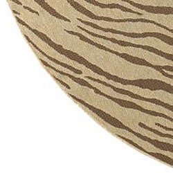 Cafe Zebra Print Indoor/Outdoor Rug (5'3 Round) - Thumbnail 2