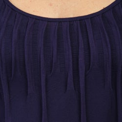 JJ Authentic Scoop Neck Pleated Dress