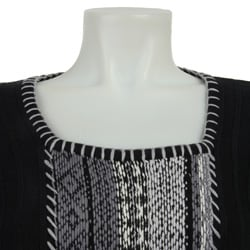 RXB Women's Fair Isle Black Sweater - Thumbnail 2