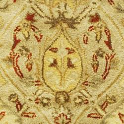 Safavieh Handmade Mahal Light Brown/ Beige New Zealand Wool Rug (2' x 3') - Thumbnail 2