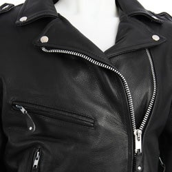 Dealer Leather Brand Women's Leather Motorcycle Jacket - Thumbnail 2