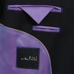 In The Now Men's Blue Wool Blend Blazer - Thumbnail 2
