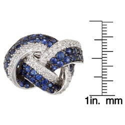 Encore by Le Vian 14k Gold Sapphire and 7/8ct TDW Diamond Ring (H-I, I1) (Size 7) - Thumbnail 2