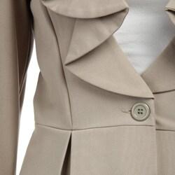 Courtenay Women's 2-piece Ruffle Pant Suit