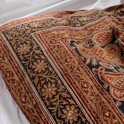 Cotton Kalamkari Red and Black Duvet Cover Set (India) - Thumbnail 2