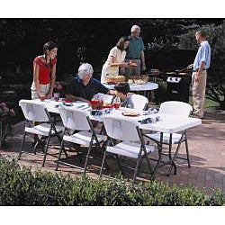 Lifetime 8-foot Folding Banquet Tables (Pack of 4) - Thumbnail 2