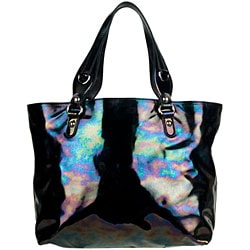 Gucci Icon Bit Black Iridescent Patent Leather Medium Tote - Thumbnail 2