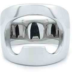 West Coast Jewelry Stainless Steel Bottle Opener Ring