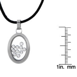Stainless Steel Cubic Zirconia See-through Necklace - Thumbnail 2