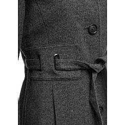 Via Spiga Women's Wool Belted Button-front Coat - Thumbnail 2