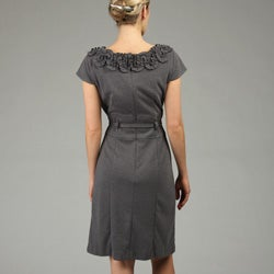 CeCe's of New York Women's Ruffle Neck Dress - Thumbnail 2