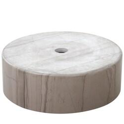 Geyser Athens Grey Marble Stone Column Vanity Sink - Thumbnail 2