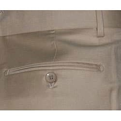 Men's Camel Single-pleat Wool Pants - Thumbnail 2