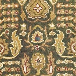 Safavieh Handmade Classic Light Green/ Gold Wool Rug (2' x 3') - Thumbnail 2