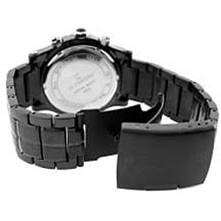 Le Chateau Dinamica Men's Black Ion-plated Sport Watch - Thumbnail 2